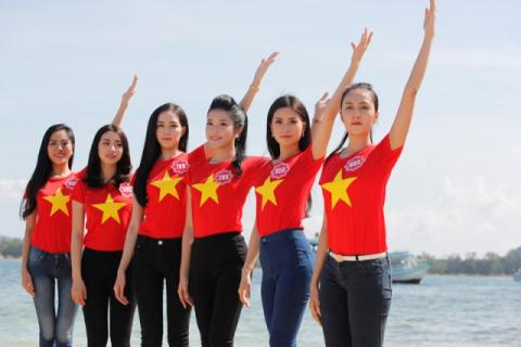 Thí sinh Hoa hậu VN 2014 – tham quan Đảo ngọc, giao lưu, hướng về biển đảo