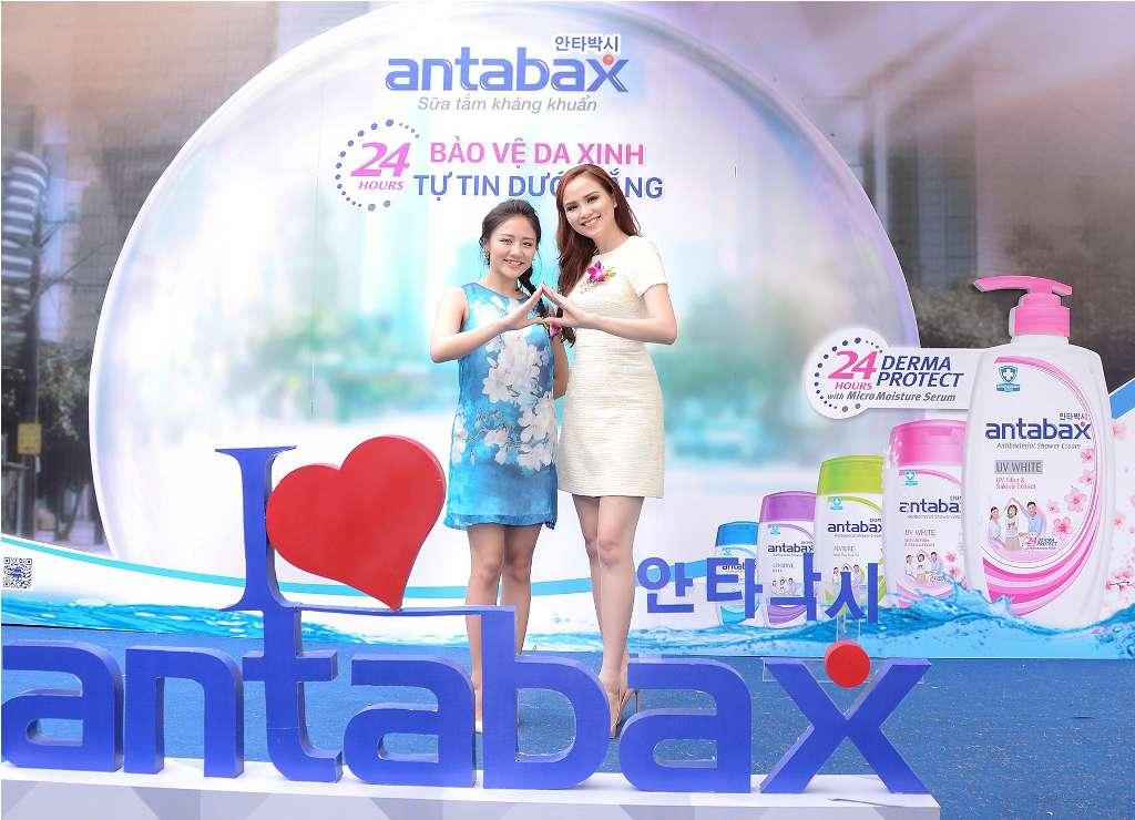 """Tham dự """"Ngày hội Antabax"""" còn có sự góp mặt của Á quân Vietnam Idol 2010 Văn Mai Hương và Hoa hậu Thế giới Người Việt 2010 Diễm Hương"""