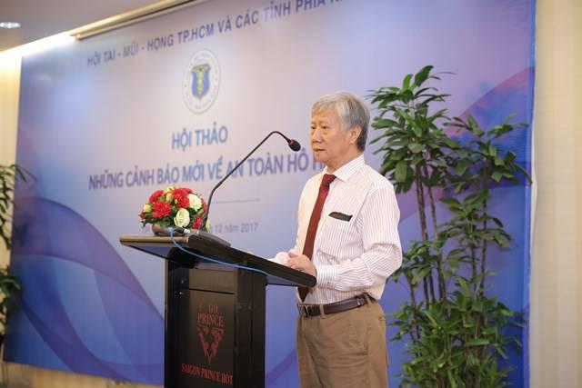 PGS.TS. BS Đặng Xuân Hùng - Hội Tai Mũi Họng, thành phố Hồ Chí Minh tại Hội thảo