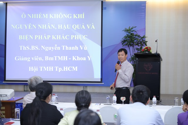Thạc sĩ - Bác sĩ Nguyễn Thanh Vũ - Hội Tai mũi hong tp HCM tại Hội thảo