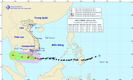 Tin nhanh - Tin mới cơn bão số 16: Mưa lớn ở Nam Bộ