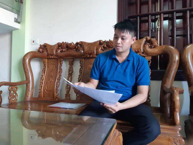 Vì mãi không giải quyết được nên mới đây anh Sơn đã viết đơn lên tòa án, Bộ Y tế.